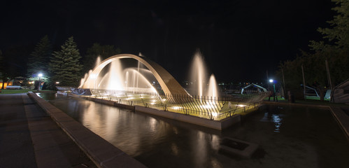 Confederation Arch Fountain at Night, Kingston