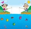 children on fishing