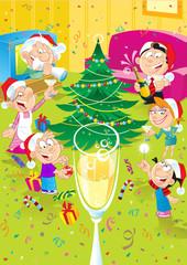 Family celebrates Christmas