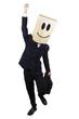 Full length of businessman celebrate success