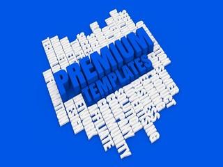Premium templates blue