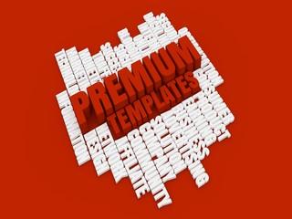 Premium templates red