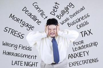 Stressful an obesity businessman 1