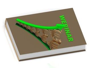 WEBINAR book and statuette growing golden euro