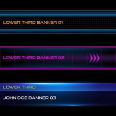 Lower third banners