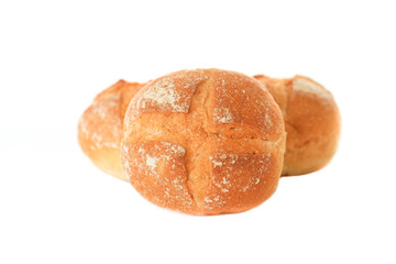 Bread Rolls on White Background