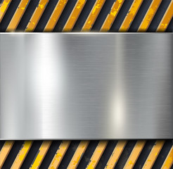 Metal warning vector background