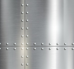 Background of the metal plates with riveted
