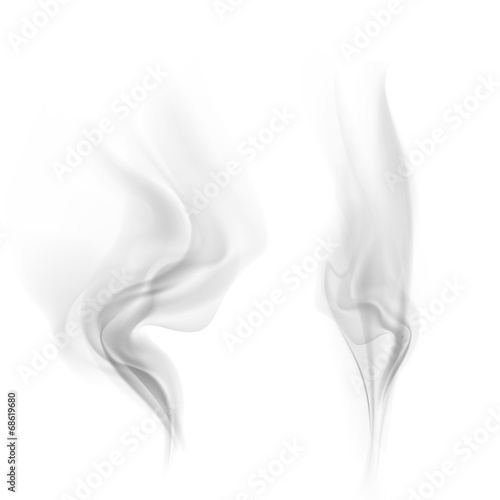 Foto op Canvas Rook vector smoke
