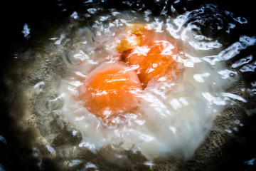 egg yolks in a pot
