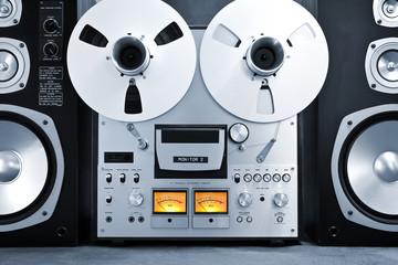 Analog Stereo Open Reel Tape Deck Recorder Vintage