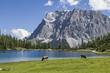 canvas print picture - Seeebensee und Zugspitze