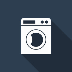washing machine icon with long shadow