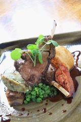 roast lamb chop dinner