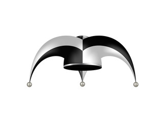 Jester hat in black and white design