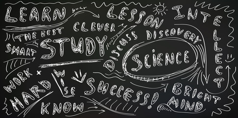 Chalkboard education background