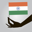 Hand with India flag