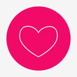 Single flat heart contour icon.