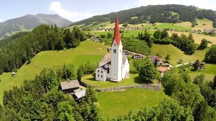 St. Peter Church in Weerberg - Aerial Flight