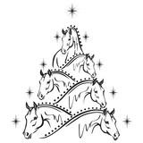 Horse lovers christmas tree 2: sport horses