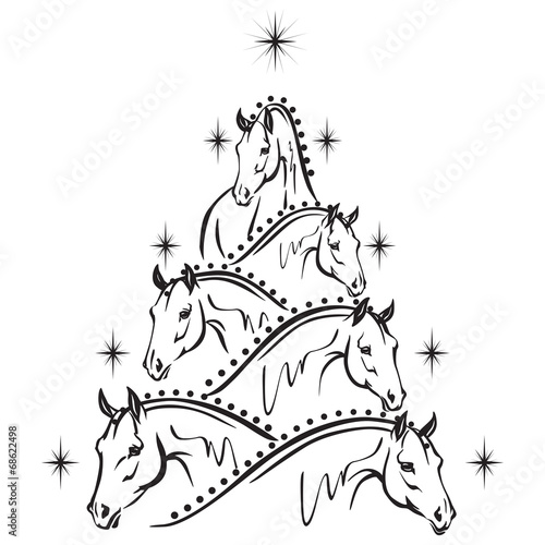 Horse lovers christmas tree 2: sport horses