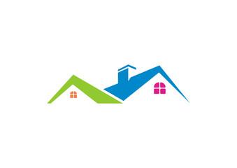 Real Estate vector logo design template. House abstract