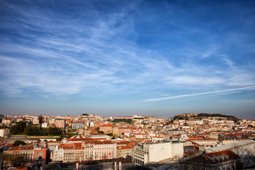 City of Lisbon at Sunset