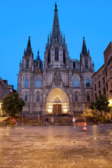 Barcelona Cathedral in the Evening