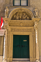 Entrance to Salvattorkapelle, oldest church in Vienna