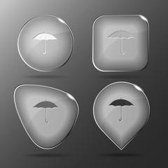 Umbrella. Glass buttons. Vector illustration.