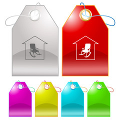 Home comfort. Vector tags.