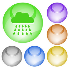 Rain. Vector interface element.