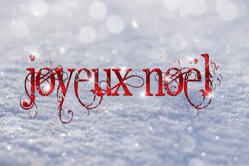 Joyeux Noël sous la neige