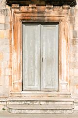 Beautiful ancient door in historic Stari Grad, Croatia