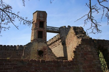 Remains of the original tower of Dilsberg Castle