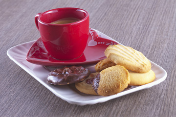 Coffe and biscuits