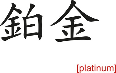 Chinese Sign for platinum