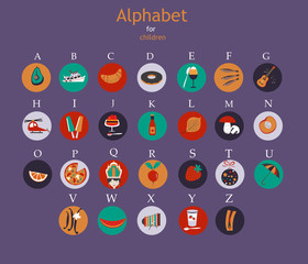 Colored alphabet. Vector