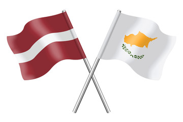 Flags : Latvia and Cyprus