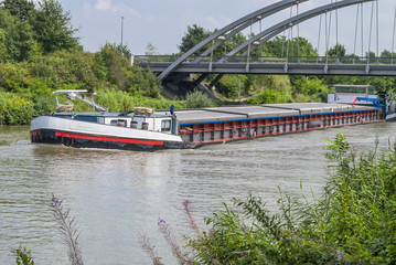 Cargo Ship on the Middland Canal