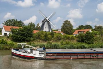 Riverboat in beautiful environment