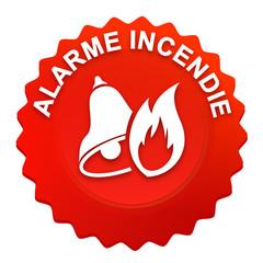 alarme incendie sur bouton web denté rouge