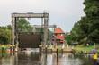Leinwanddruck Bild - Mirower Schleuse (Mecklenburg-Vorpommern)