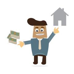 Business cartoon vector