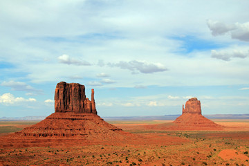 Scenic View of the Mittens, Monument Valley, Utah, USA