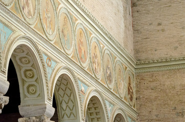 Sant'Apollinare in Classe interior view with mosaics in frame
