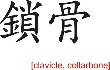 Chinese Sign for clavicle, collarbone