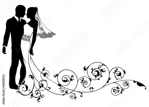 Bride and groom floral design - 68628032