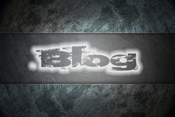 Blog text on background