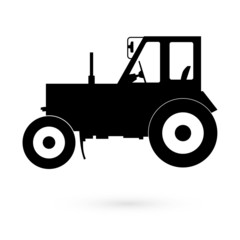 Icon tractor. raster